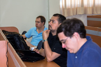 Photo: Michael Usher, Eduardo González and Richard Hind