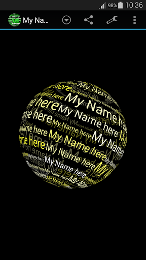 玩免費漫畫APP|下載My Name in 3D Live Wallpaper app不用錢|硬是要APP