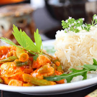 Slow Cooker Thai Red Curry Chicken.