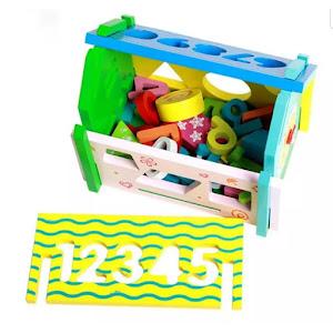 Casuta educativa, cifre si forme geometrice, multicolor, CX-110