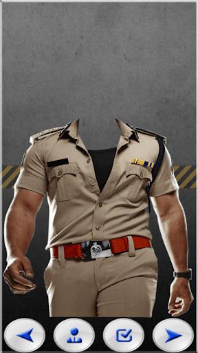 Police Men Photo Suit