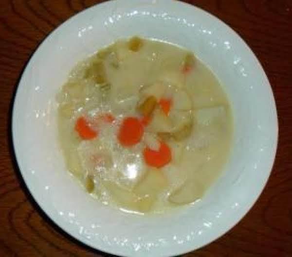 Potato Soup And Hard Salami Recipe