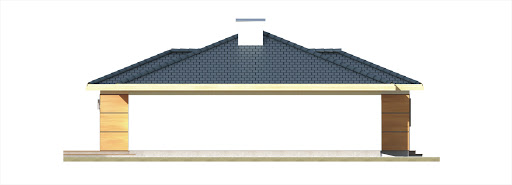 Milenka wersja B z podwójnym garażem - Elewacja prawa