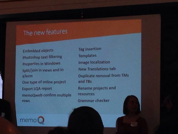 memoQ 2014 R2 new features