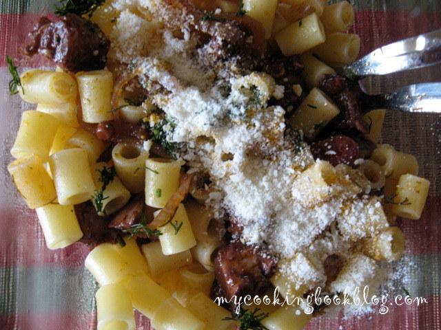 Паста (макарони) с ароматен октопод