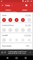 Screenshot of StrongLifts 5x5 Workout