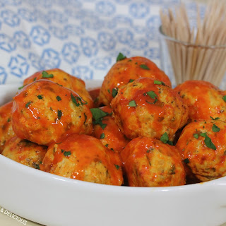 Blue Cheese Stuffed (Crockpot!) Buffalo Chicken Meatballs.
