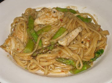 Sesame Noodles With Chicken & Asparagus Recipe