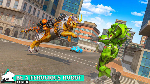 Flying Tiger Robot: Flying Bike Transformation 1.4 screenshots 4