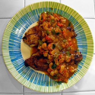 Blackened Catfish with Crawfish Etouffee