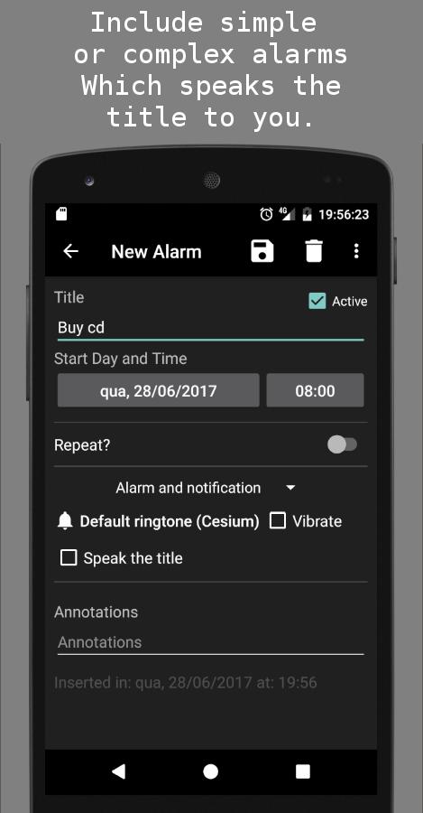 Alarm and pill reminder Screenshot 3