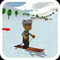 Ski Sim: Cartoon icon