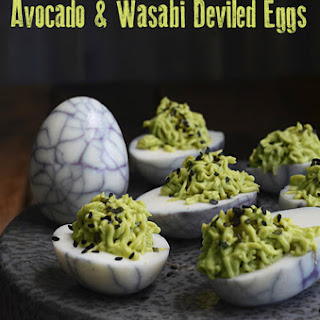 Avocado and Wasabi Deviled Eggs