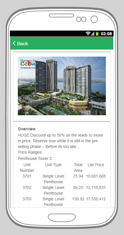 Cebu Homes- screenshot