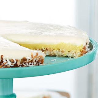 Creamy Lemon Coconut Macaroon Tart.