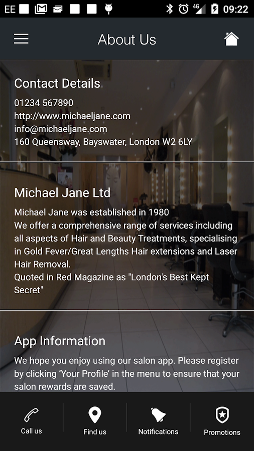 Michael Jane Ltd- screenshot