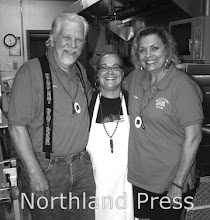 Photo: Crosslake/Fifty Lakes American Legion - Joe and Pam Wiltsey flank chef Ann Schorr who prepared America's Chili - photo by Paul Boblett