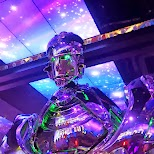 robots at the Robot Restaurant in Kabukicho in Kabukicho, Tokyo, Japan
