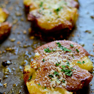 Roasted Smashed Potatoes.