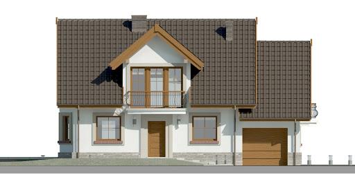 Dom przy Cyprysowej 14 D - Elewacja przednia