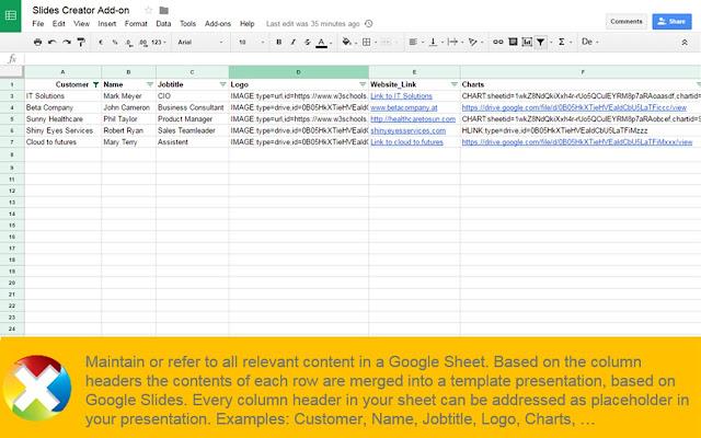Slides Creator - Google Sheets add-on