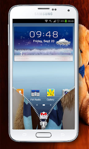 android best teddy Zipper Lock Screenshot 4