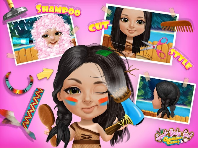 Sweet Baby Girl Summer Camp - Kids Camping Club Android 9