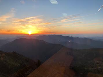 剣山山頂の夕日