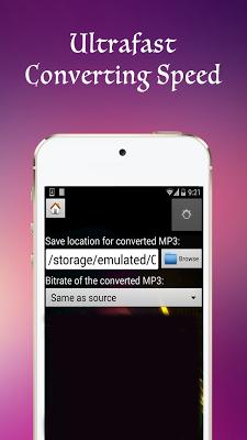 mp4 to mp3 - screenshot