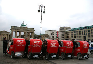 Photo: We are proud to see the Velotaxi Berlin's #CityCruisers rolling today and tomorrow for the Falling Walls Foundation's conference finale. The international platform was initiated on the occasion of the 20th anniversary of the fall of the Berlin Wall. Read more on www.falling-walls.com!