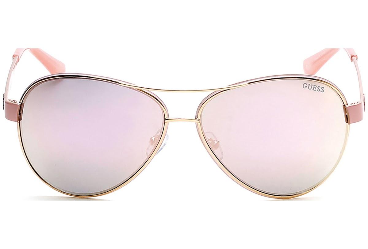 Guess GU7443 C60 57C (shiny beige / smoke mirror) Sonnenbrillen KwvDc
