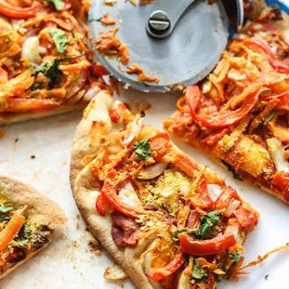 Easy Vegan Thai Naan Pizza.