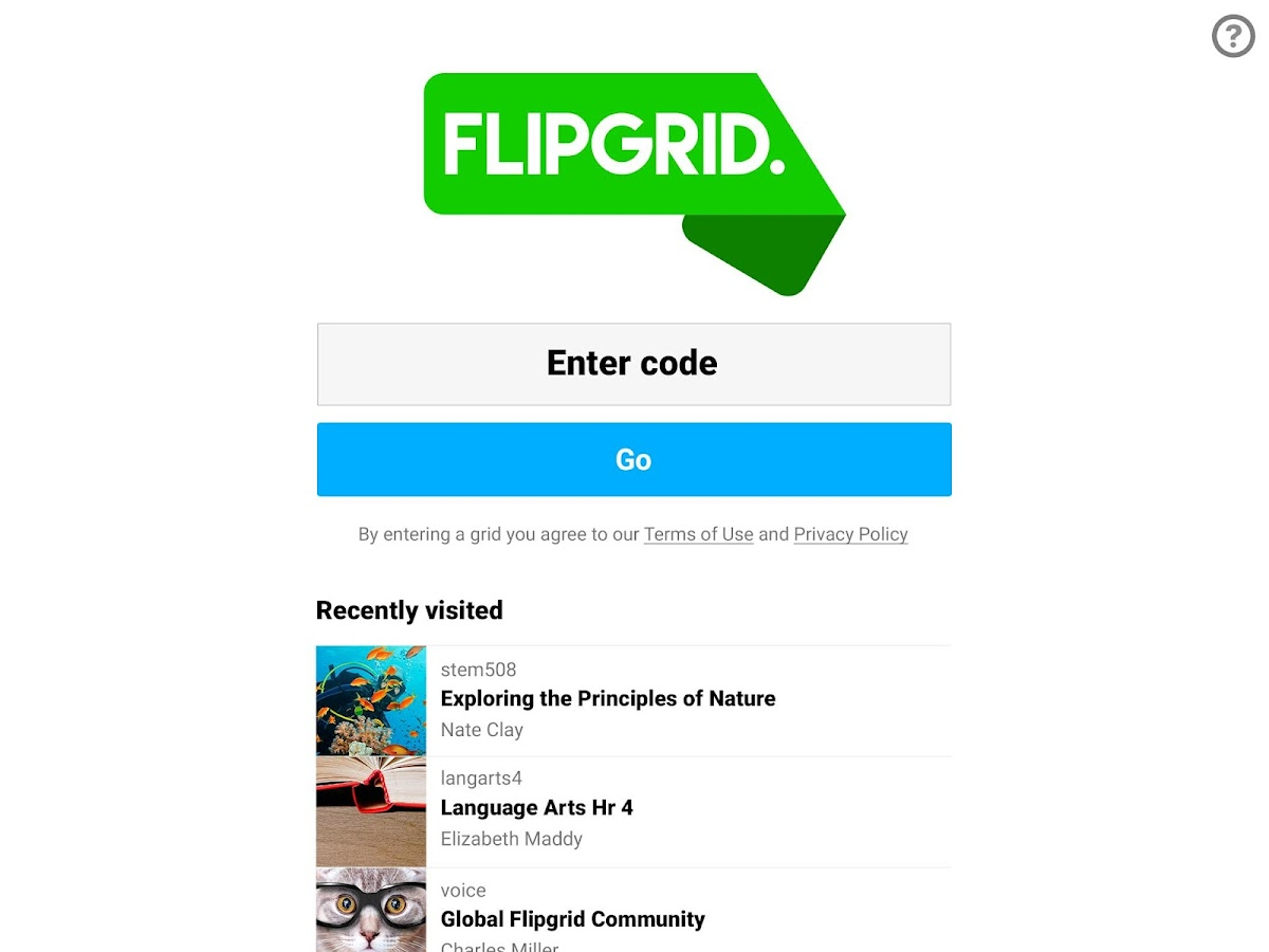 Flipgrid.- screenshot