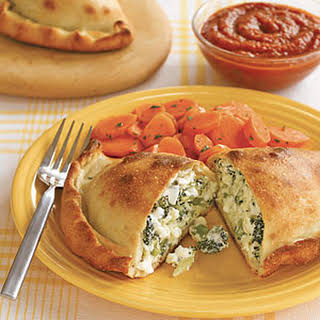 Broccoli and Double Cheese Calzones.