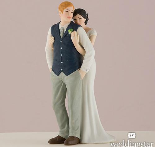 sweet embrace wedding topper