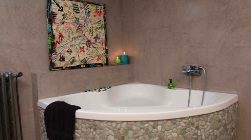 béton ciré mural salle de bain