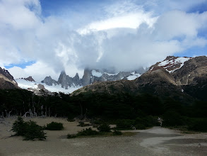 Photo: Cerro Torre was covered when I first got to it