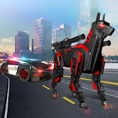 Tải US Police Transform Robot Car Cop Dog miễn phí