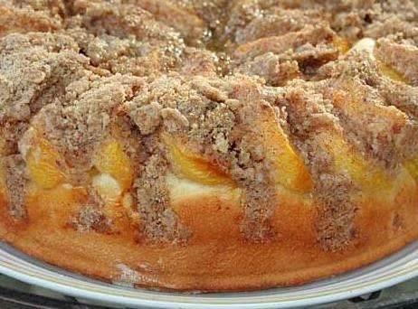 Peach Streusel  Kuchen Recipe
