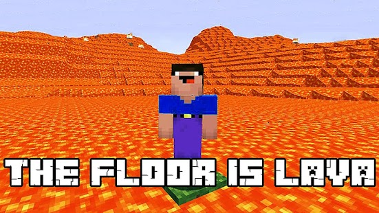 The Floor is Lava maps PE - náhled