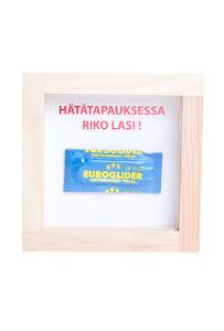 Finsk, i nödfall krossa glaset kondom