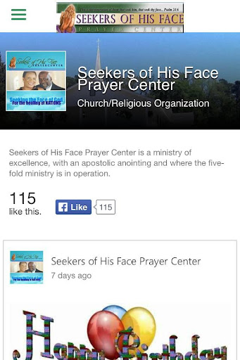 Seekers of His Face
