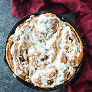 Apple Cinnamon Rolls with Cream Cheese Frosting (Eggless).