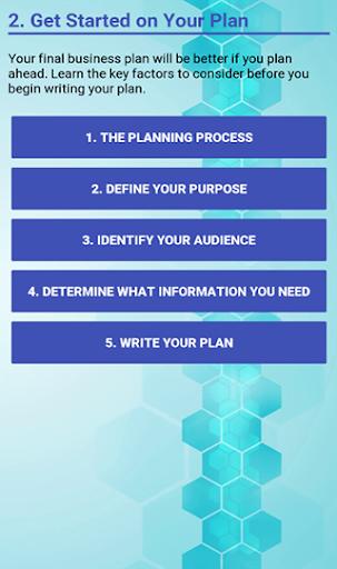 Business Plan Development screenshot 3