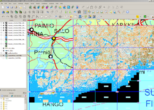 Photo: Virtual datasets consisting of true colour geotiffs - a screen capture from Quantum GIS