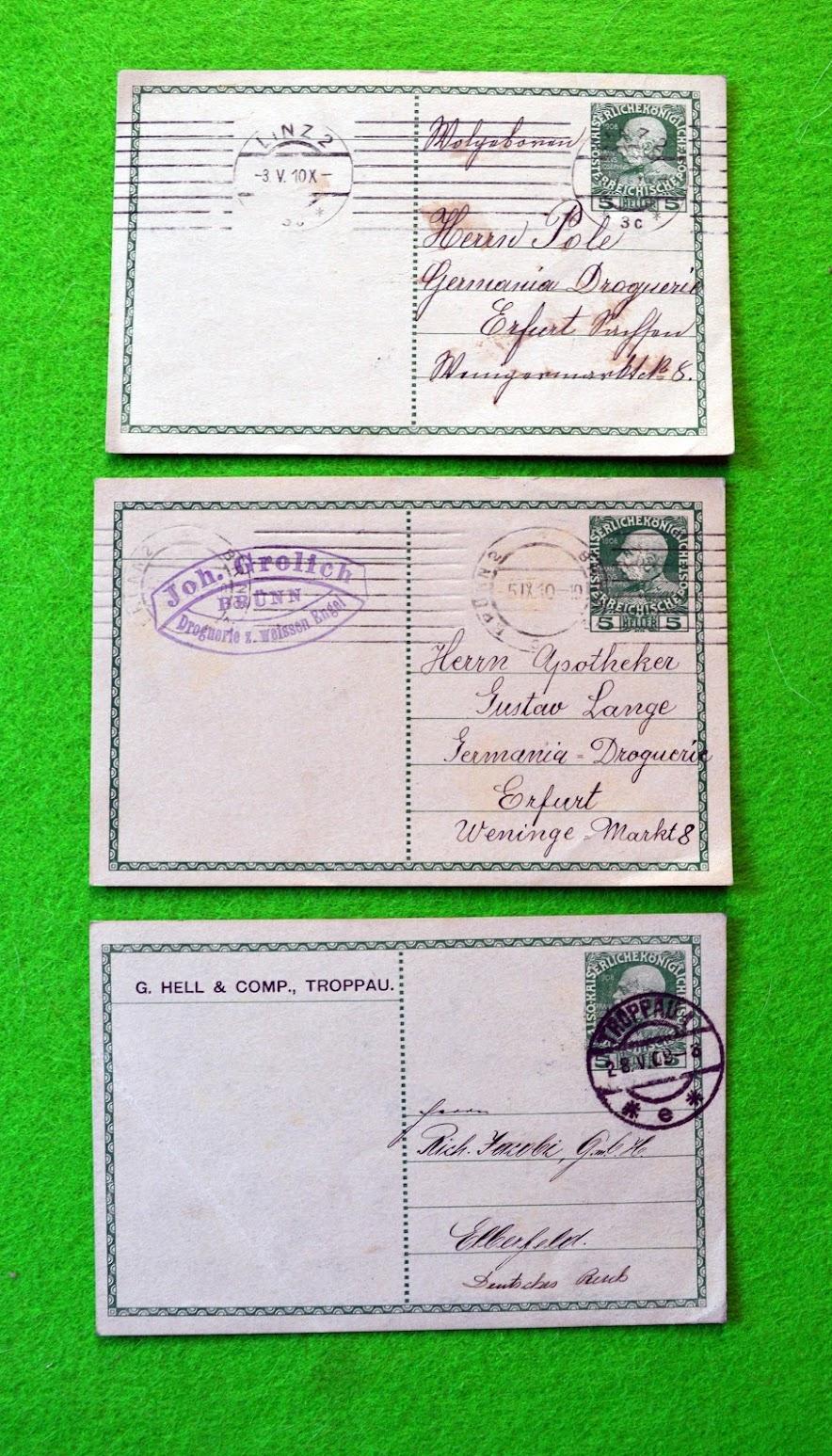 Postkarten aus Österreich - 1909 / 1910
