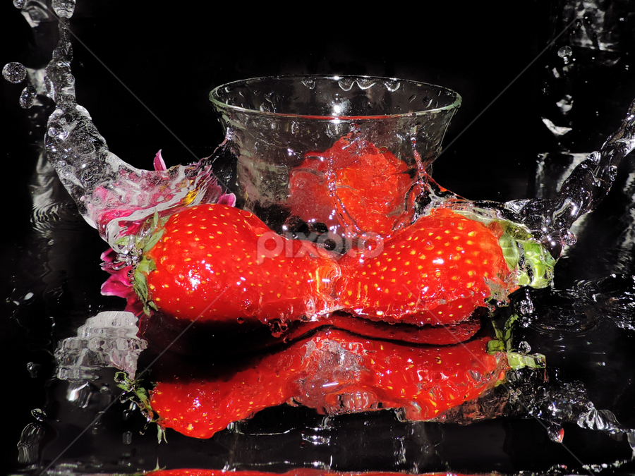 strawberry in the glass by LADOCKi Elvira - Food & Drink Fruits & Vegetables ( fruits,  )