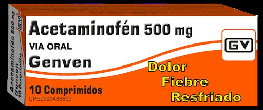 Acetaminofen 500Mg 10Tabletas Genven