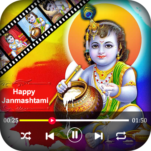 Janmashtami Video Maker -  Music Slideshow Maker