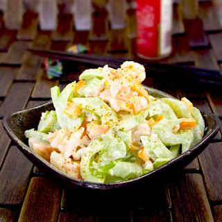 Shrimp And Celery Salad With Wasabi Mayo